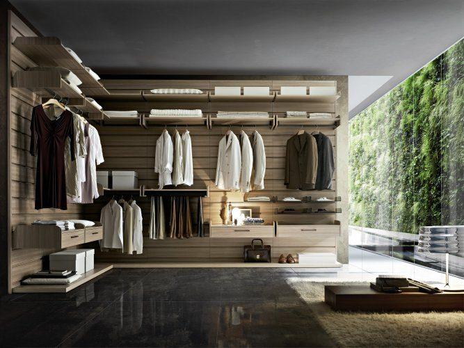 Cabina armadio ad angolo in legno - Caretta Design