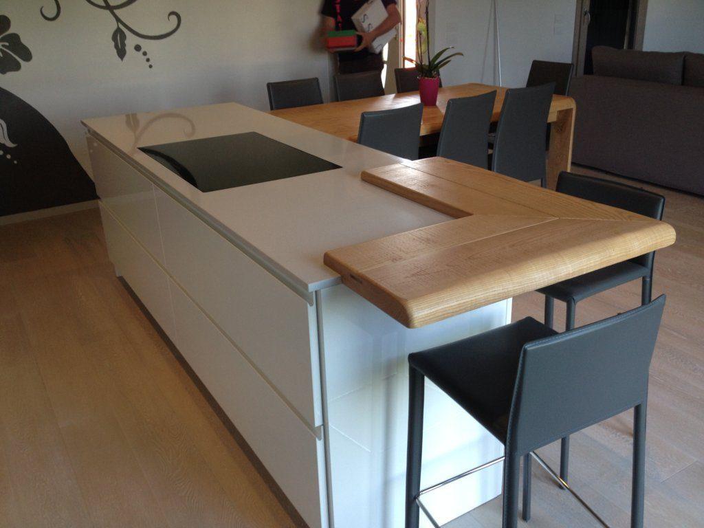 Tavolo per piano cucina in legno con angoli smussati e lati ...