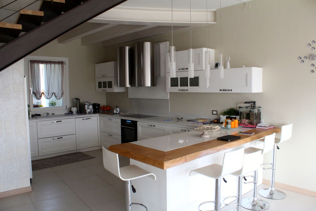 Cucina con penisola caretta design - Cucina penisola ...